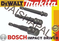 "1/4"" 3/8"" 1/2"" Socket Adaptor Set for impact driver bosch, dewalt, Makita, Ryobi"