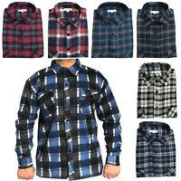 Mens New Lumberjack Brushed Cotton Check Casual Shirt Warm Work Top M-5XL