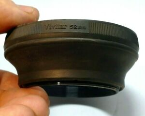 Vivitar 52mm screw in Rubber Lens Hood Shade for normal 35mm f2.8 50mm f1.7