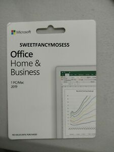Microsoft Office Home and Business 2019 for PC/Mac | KEYCARD | 100% Genuine