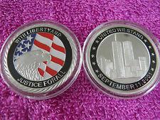 11 SEPTEMBRE 2001 USA 911 ARRÊT 40MM ARGENT MÉDAILLE RARE