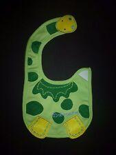 NEW Carter's Dinosaur  Baby Boys Green Water Resistant Teething Drool Bib