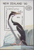 Laos Block134 (kompl.Ausg.) postfrisch 1990 Vögel