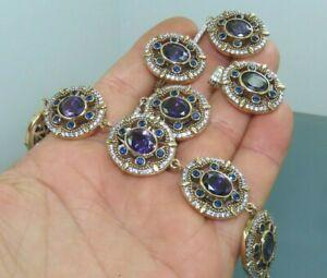 Turkish Handmade Jewelry 925 Sterling Silver Amethyst Stone Women Set