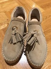 J/SLIDES Women's Suede Tassel Loafers New Without Tags Size 37