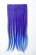Extension capelli Clip-In 5 clip liscio bicolore Ombreggiato Blu 60cm lang