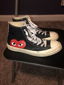 Size 9 - Converse Chuck Taylor All Star High x Comme des Garcons Play 2015