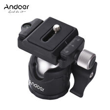 Andoer Ball Head Video Tripod Ballhead Mount with Quick Release Plate for Camera