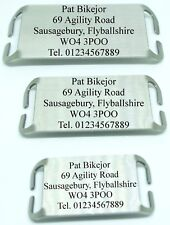 Slide on Dog Tag ID  for working dogs agility flyball canicross - free engraving