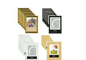 [6 or 12] x A4 Certificate Photo Picture Frames Standing Mountable Glass/Plastic