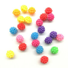 40pcs Acrylic Charms Loose Beads Kid Jewelry DIY Accessories 10*9mm mix color