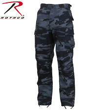 Rothco Midnight Blue Camo Tactical BDU Pants - Mens Military Style Cargo Fatigue