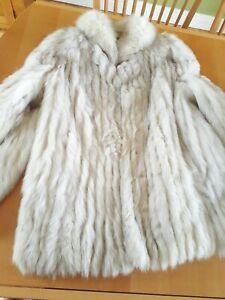 Real Silver Fox Fur Jacket 12
