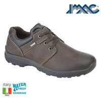 IMAC MENS WATERPROOF Brown Leather Casual Lace Up Shoes - Sizes 6 7 8 9 10 11 12