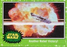 Star Wars The Last Jedi Green Base Card #39 Another Rebel Victory!