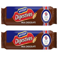 McVitie's Digestives Milk Chocolate Biscuits 433g No Artificial Colours 2x Packs