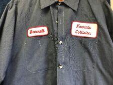 Vintage 90s Mechanic Auto Shop Shirt Men's Large Short Sleeve Long