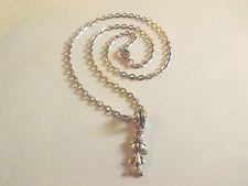 collier chaine argenté 46 cm avec pendentif garçon avec casquette 19x9mm