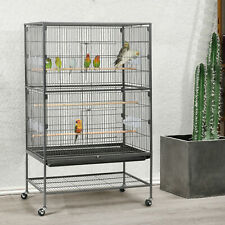 "52"" Rolling Large Flight Conure Cockatiel Parakeet Parrot Bird Cage"