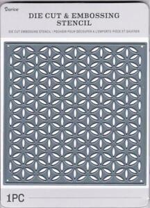 Darice Craft Dies GEOMETRIC FLORAL Pattern Die Cut Emboss Stencil 30094122