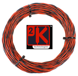 DCC Concepts DCW-TW5-1.0 DCC Layout Twisted Bus Wire 1.0mm x 5m Roll Red/Black