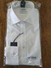 TM Lewin shirt Size 16 White Shirt regular fit ref mx11
