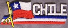 Embroidered International Patch National Flag of Chile NEW streamer