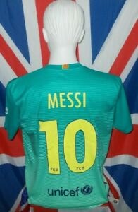 Official Licensed F.C Barcelona Third 3rd Shirt 2016-2017 Messi #10 (L)
