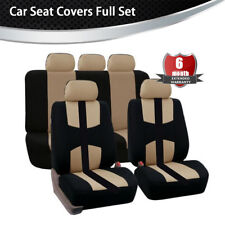 Beige Sport Seat Cover Four Seasons Universal For car truck Suv  Front + Rear