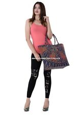Women's Large Designer Tote Bag New Shoulder Handbag Mandala Print Shopper Bag