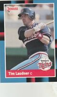 FREE SHIPPING-MINT-1988 Donruss Minnesota Twins Baseball Card #631 Tim Laudner