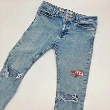 Vintage Hermès X Topman Spray On Skinny Fit Distressed Acid Wash Stud Jeans Men
