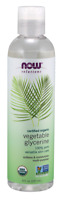 Now Foods ORGANIC VEGETABLE GLYCERINE Pure Skin Care - 8 oz SOFTENS, MOISTURIZES