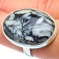 Large Pinolith Jasper 925 Sterling Silver Ring Size 8 Ana Co Jewelry R38837F
