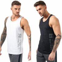 Mens Under Armour UA Sportstyle Graphic Gym Vest Tank top white black