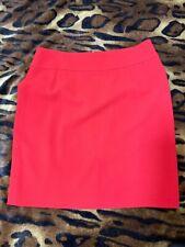 Pink Tartan Red Career Above Knee Wool Textured Pencil Skirt Sz 14