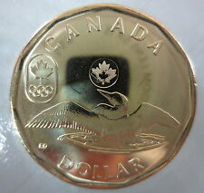 CANADA 2014 LUCKY LOONIE SOCHI OLYMPICS BRILLIANT UNCIRCULATED COIN