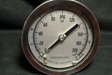 "Water Pressure Gauge - Ashcroft 0-200#, 4.5"", New Unit in opened box' Stainless"