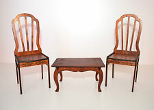 wooden coffee TABLE & 2 chairs for 12 inch Dolls Furniture 1:6 1/6 Barbie FR