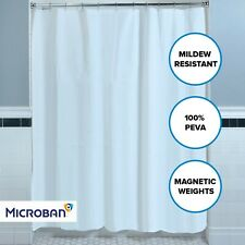 "White Mildew Resistant Lightweight PEVA Shower Curtain Liner (70"" x 72"")"