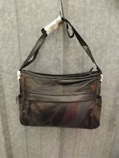 Vtg New NOS Deadstock Real Leather Patchwork Shoulder bag Handbag Purse 9x13x3