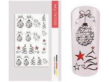NailArt Nagel Wasser Tattoo Wrap Weihnachten Sticker Finger Aufkleber Design Mot