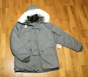 Orig. US Army AIR FORCE N-3B Parka Extreme Cold Weather Size M  NEU
