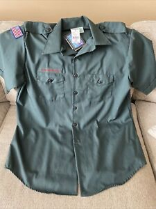 New W/Tags Official Venturing Uniform Boy Scouts of America Leader Flag Mens XL
