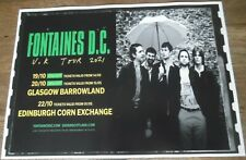 More details for fontaines d.c. - live music show oct 2021 promotional tour concert gig poster