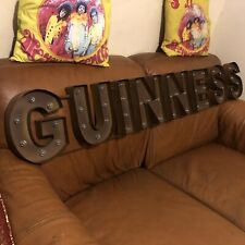 Guinness Huge Lighted LED Sign! Irish Beer! Distressed!Bar,Game Room! Brand New!