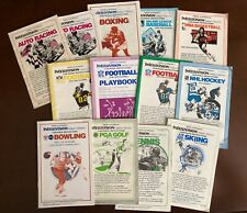 Intellivision Manuals for Sports Network Games From Mattel Electronics