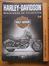 FASCICULE 34  MOTO COLECCION HARLEY DAVIDSON FXS 1200 LOW RIDER 1977