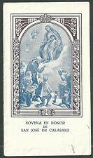Ninth old san jose de CALAZANS andachtsbild santino holy card santini