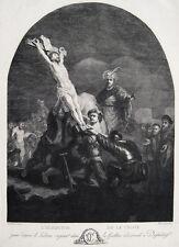 Rembrandt Aufrichtung des Kreuzes L´Èlevation de la croix Christoph Hess 1778